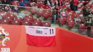 """Uczniowie z """"Jedenastki"""" na Stadionie Narodowym"""