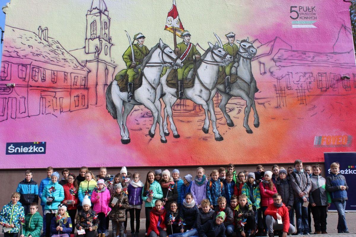 Mural historyczny w Dębicy
