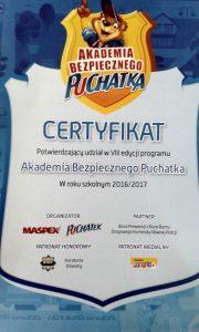 Akademia Bezpiecznego Puchatka w SP 11