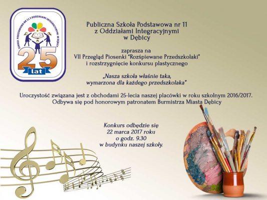 """VII Przegląd Piosenki """"Rozśpiewane Przedszkolaki"""" i rozstrzygnięcie konkursu plastycznego"""