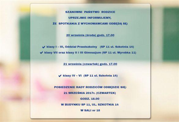 Spotkania z wychowawcami 20-21.09.2017