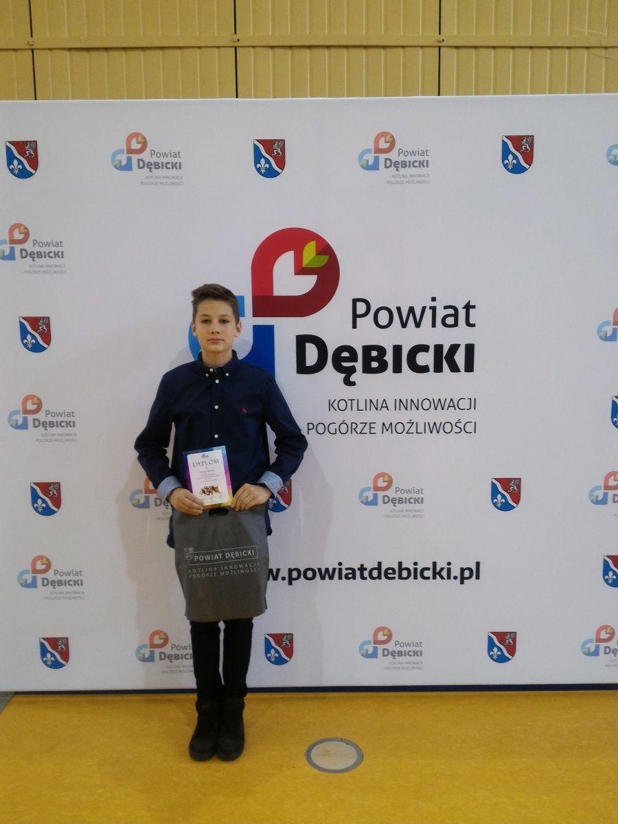 Mikołaj Kolbusz nagrodzony przez Starostę Powiatu Dębickiego