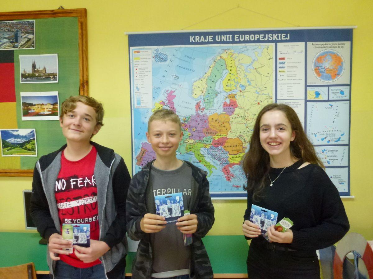 Lekcja o Funduszach Europejskich w klasie 8a
