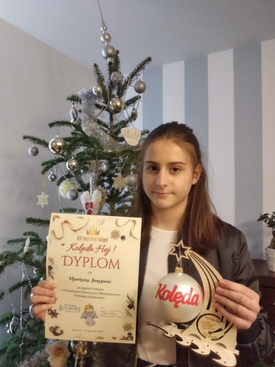 """II miejsce na XII Dziecięcym i Młodzieżowym Festiwalu """" Kolęda Hej"""""""