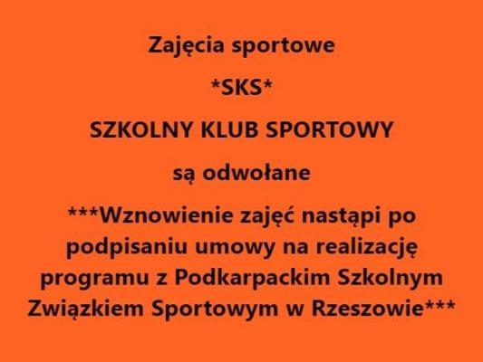Zajęcia sportowe odwołane