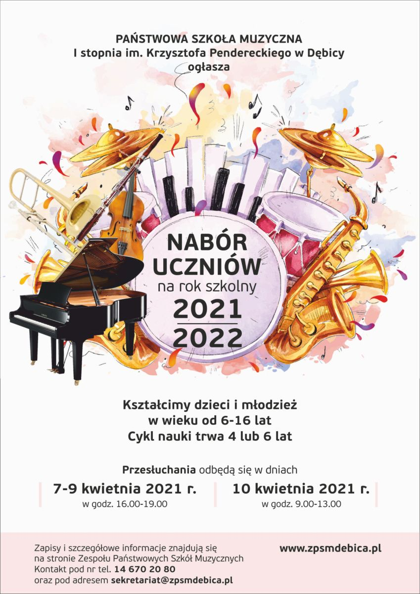 Nabór uczniów do Szkoły Muzycznej
