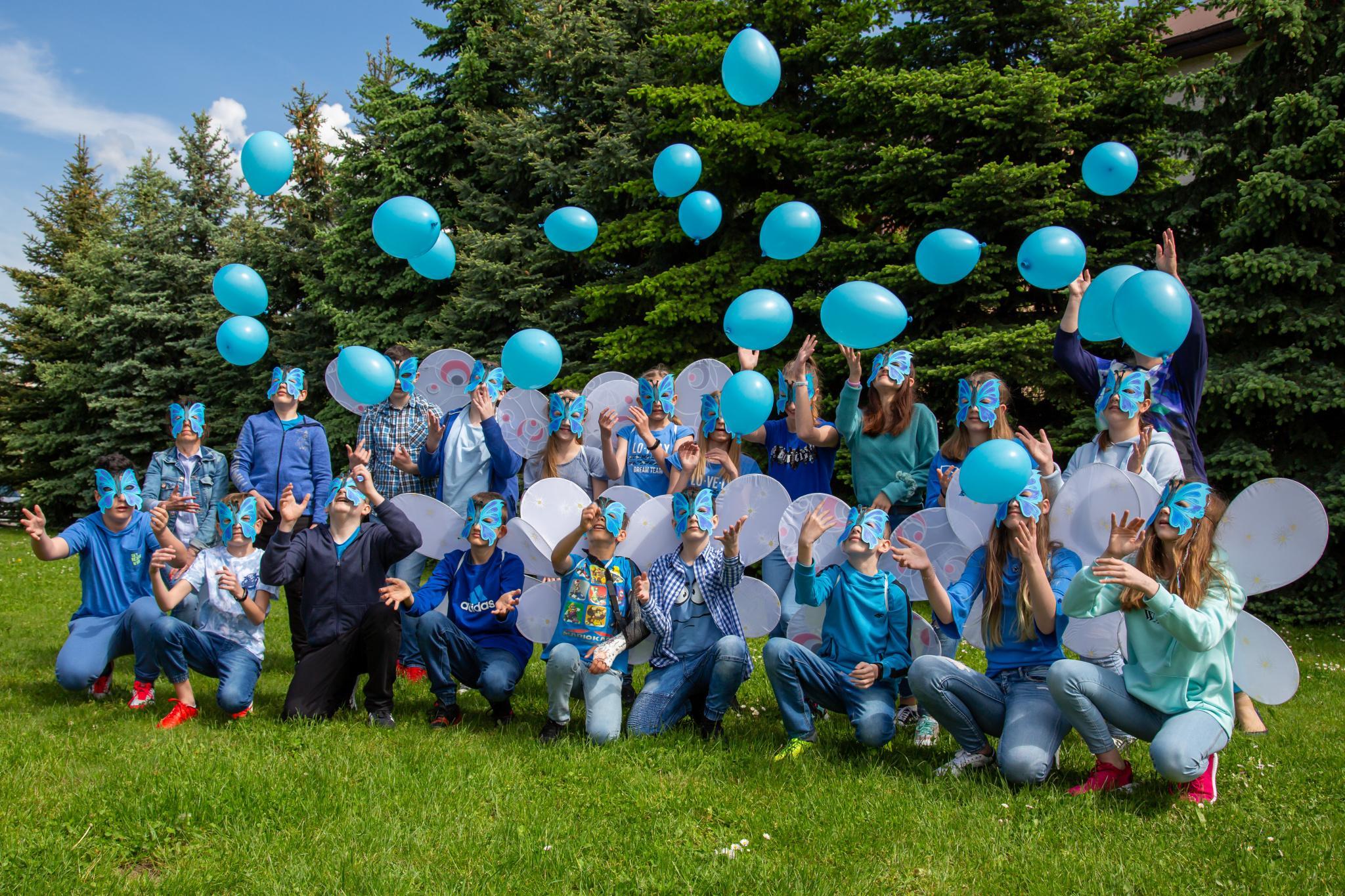 Jesteśmy z Wami Niebieskimi Motylami!